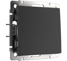 Кнопка звонка Встраиваемые механизмы черные W1114508