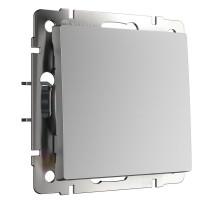 Переключатель Встраиваемые механизмы серебряные WL06-SW-1G-C