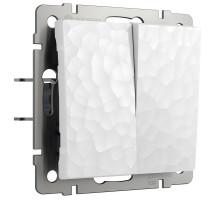 Выключатель Встраиваемые механизмы Hammer белые W1220001