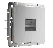 Розетка Встраиваемые механизмы серебряный рифленый W1181009