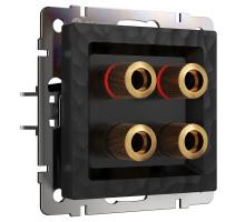 Розетка Встраиваемые механизмы Hammer черные W1285008