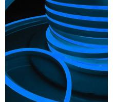 Светодиодная лента Гибкий неон 220V 9,6W 120Led 2835 IP67 односторонний синий, 50 м